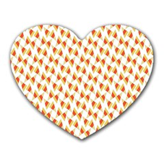 Candy Corn Seamless Pattern Heart Mousepads by Nexatart