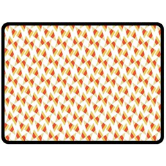 Candy Corn Seamless Pattern Double Sided Fleece Blanket (large)  by Nexatart