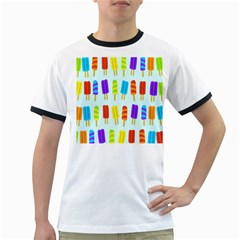 Popsicle Pattern Ringer T Shirts