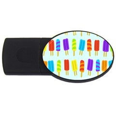 Popsicle Pattern Usb Flash Drive Oval (4 Gb) by Nexatart