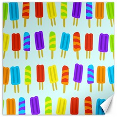 Popsicle Pattern Canvas 12  X 12