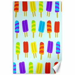 Popsicle Pattern Canvas 24  X 36  by Nexatart