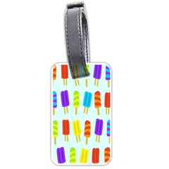 Popsicle Pattern Luggage Tags (one Side)  by Nexatart