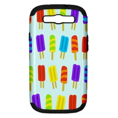 Popsicle Pattern Samsung Galaxy S Iii Hardshell Case (pc+silicone)