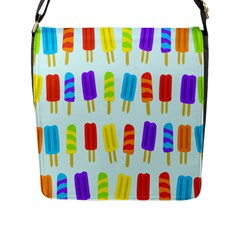 Popsicle Pattern Flap Messenger Bag (l)