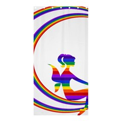 Rainbow Fairy Relaxing On The Rainbow Crescent Moon Shower Curtain 36  X 72  (stall)  by Nexatart