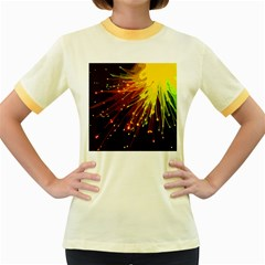 Big Bang Women s Fitted Ringer T Shirts by ValentinaDesign