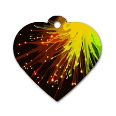 Big Bang Dog Tag Heart (one Side) by ValentinaDesign