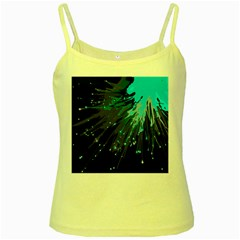 Big Bang Yellow Spaghetti Tank by ValentinaDesign