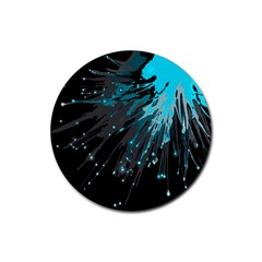 Big Bang Rubber Coaster (round)  by ValentinaDesign
