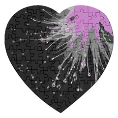 Big Bang Jigsaw Puzzle (heart) by ValentinaDesign