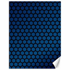 Blue Dark Navy Cobalt Royal Tardis Honeycomb Hexagon Canvas 12  X 16   by Mariart