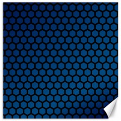 Blue Dark Navy Cobalt Royal Tardis Honeycomb Hexagon Canvas 20  X 20   by Mariart