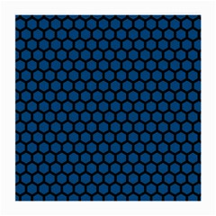 Blue Dark Navy Cobalt Royal Tardis Honeycomb Hexagon Medium Glasses Cloth (2-side) by Mariart