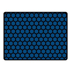 Blue Dark Navy Cobalt Royal Tardis Honeycomb Hexagon Fleece Blanket (small) by Mariart