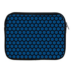 Blue Dark Navy Cobalt Royal Tardis Honeycomb Hexagon Apple Ipad 2/3/4 Zipper Cases by Mariart