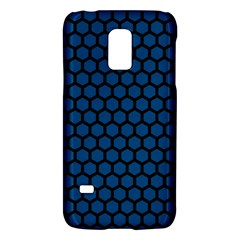 Blue Dark Navy Cobalt Royal Tardis Honeycomb Hexagon Galaxy S5 Mini