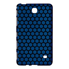 Blue Dark Navy Cobalt Royal Tardis Honeycomb Hexagon Samsung Galaxy Tab 4 (7 ) Hardshell Case  by Mariart