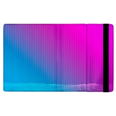 With Wireframe Terrain Modeling Fabric Wave Chevron Waves Pink Blue Apple Ipad 2 Flip Case by Mariart