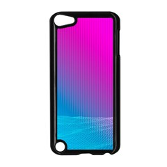 With Wireframe Terrain Modeling Fabric Wave Chevron Waves Pink Blue Apple Ipod Touch 5 Case (black) by Mariart