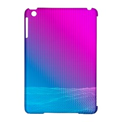 With Wireframe Terrain Modeling Fabric Wave Chevron Waves Pink Blue Apple Ipad Mini Hardshell Case (compatible With Smart Cover) by Mariart