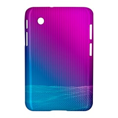 With Wireframe Terrain Modeling Fabric Wave Chevron Waves Pink Blue Samsung Galaxy Tab 2 (7 ) P3100 Hardshell Case  by Mariart