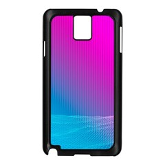 With Wireframe Terrain Modeling Fabric Wave Chevron Waves Pink Blue Samsung Galaxy Note 3 N9005 Case (black) by Mariart