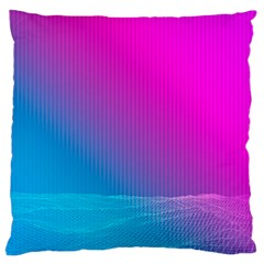 With Wireframe Terrain Modeling Fabric Wave Chevron Waves Pink Blue Standard Flano Cushion Case (one Side) by Mariart
