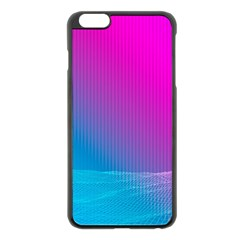 With Wireframe Terrain Modeling Fabric Wave Chevron Waves Pink Blue Apple Iphone 6 Plus/6s Plus Black Enamel Case by Mariart