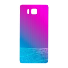 With Wireframe Terrain Modeling Fabric Wave Chevron Waves Pink Blue Samsung Galaxy Alpha Hardshell Back Case by Mariart