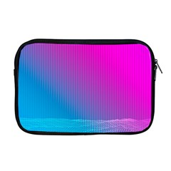 With Wireframe Terrain Modeling Fabric Wave Chevron Waves Pink Blue Apple Macbook Pro 17  Zipper Case by Mariart