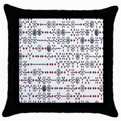 Bioplex Maps Molecular Chemistry Of Mathematical Physics Small Army Circle Throw Pillow Case (black) by Mariart