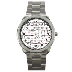 Bioplex Maps Molecular Chemistry Of Mathematical Physics Small Army Circle Sport Metal Watch by Mariart