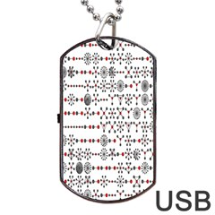 Bioplex Maps Molecular Chemistry Of Mathematical Physics Small Army Circle Dog Tag Usb Flash (two Sides) by Mariart