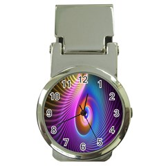 Abstract Fractal Bright Hole Wave Chevron Gold Purple Blue Green Money Clip Watches by Mariart