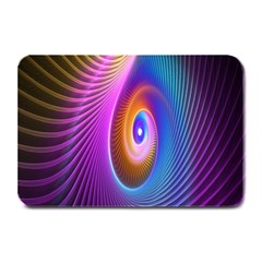Abstract Fractal Bright Hole Wave Chevron Gold Purple Blue Green Plate Mats by Mariart
