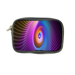 Abstract Fractal Bright Hole Wave Chevron Gold Purple Blue Green Coin Purse by Mariart