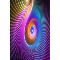 Abstract Fractal Bright Hole Wave Chevron Gold Purple Blue Green 5 5  X 8 5  Notebooks by Mariart