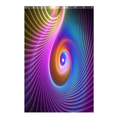 Abstract Fractal Bright Hole Wave Chevron Gold Purple Blue Green Shower Curtain 48  X 72  (small)  by Mariart