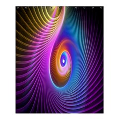 Abstract Fractal Bright Hole Wave Chevron Gold Purple Blue Green Shower Curtain 60  X 72  (medium)  by Mariart