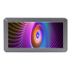 Abstract Fractal Bright Hole Wave Chevron Gold Purple Blue Green Memory Card Reader (mini) by Mariart
