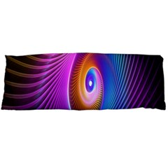 Abstract Fractal Bright Hole Wave Chevron Gold Purple Blue Green Body Pillow Case Dakimakura (two Sides) by Mariart