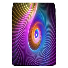 Abstract Fractal Bright Hole Wave Chevron Gold Purple Blue Green Flap Covers (l)  by Mariart