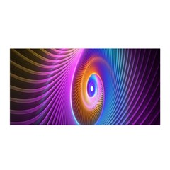 Abstract Fractal Bright Hole Wave Chevron Gold Purple Blue Green Satin Wrap by Mariart