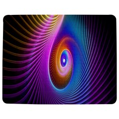 Abstract Fractal Bright Hole Wave Chevron Gold Purple Blue Green Jigsaw Puzzle Photo Stand (rectangular)