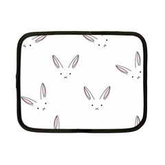 Bunny Line Rabbit Face Animals White Pink Netbook Case (small)  by Mariart
