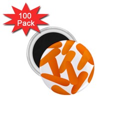 Carrot Vegetables Orange 1 75  Magnets (100 Pack)  by Mariart