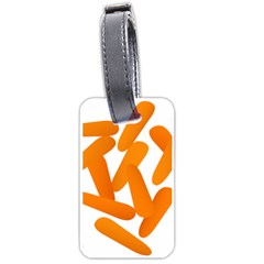 Carrot Vegetables Orange Luggage Tags (one Side)  by Mariart