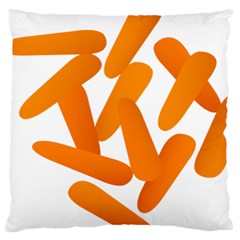 Carrot Vegetables Orange Large Cushion Case (two Sides)