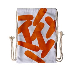 Carrot Vegetables Orange Drawstring Bag (small) by Mariart